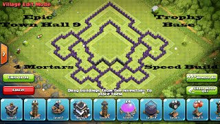 Clash of Clans- Epic Town Hall 9 Trophy Base (The Raven) Speed Build