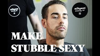 MAKE STUBBLE SEXY (Barber Beard Trim & Shave Series Ep 06)