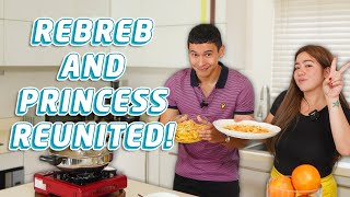COOKING SALTED EGG SHRIMP DISH + PASTA WITH @Love Angeline Quinto | Enchong Dee