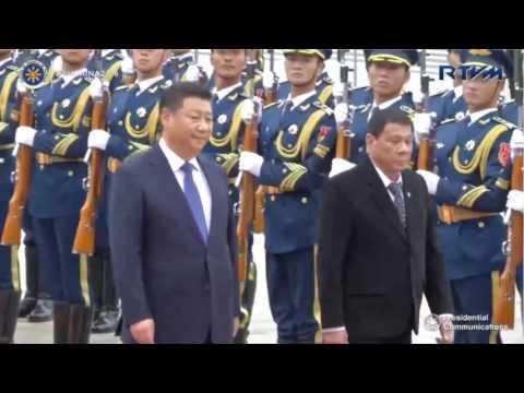 China welcome Philippine president Rodrigo Duterte