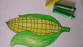 drawing for kids,sweet corn yummy