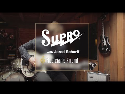 Supro Martinique Deluxe Vibrato Semi-Hollow Electric Guitar with Jared Scharff