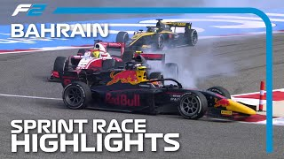 F2 Sprint Race Highlights | 2020 Bahrain Grand Prix
