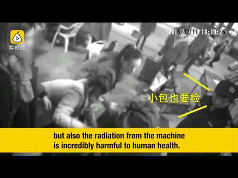 Fishhead - Woman Goes Through China Railway Security X-Ray
