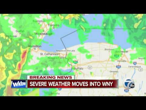 BREAKING NEWS: Severe weather moves into Western New York