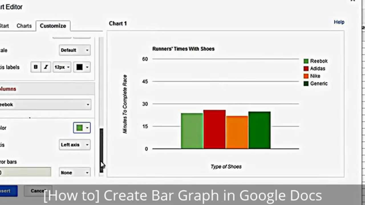 [How To] Create Bar Graph In Google Docs