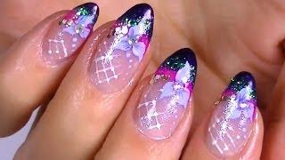 Дизайн ногтей. Рисунки на ногтях: бантики.(Данное видео размещено на основании лицензии Creative Commons -- Attribution (разрешено повторное использование). Огромн..., 2014-03-10T10:38:39.000Z)