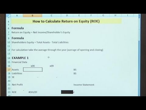 How To Compute Return On Equity
