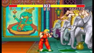 Street Fighter II The World Warrior 10-round double K.O. draw game
