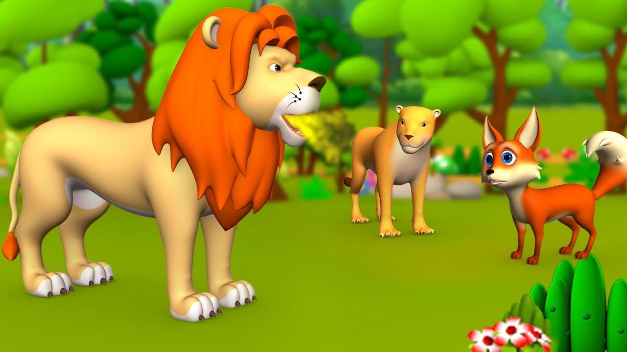 Download సింహం నోటి దుర్వాసన - Lion King's Mouth Odor 3D Animated Telugu Moral Stories   JOJO TV Fairy Tales