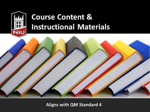 Quality Online Course Series: Course Content & Instructional Materials