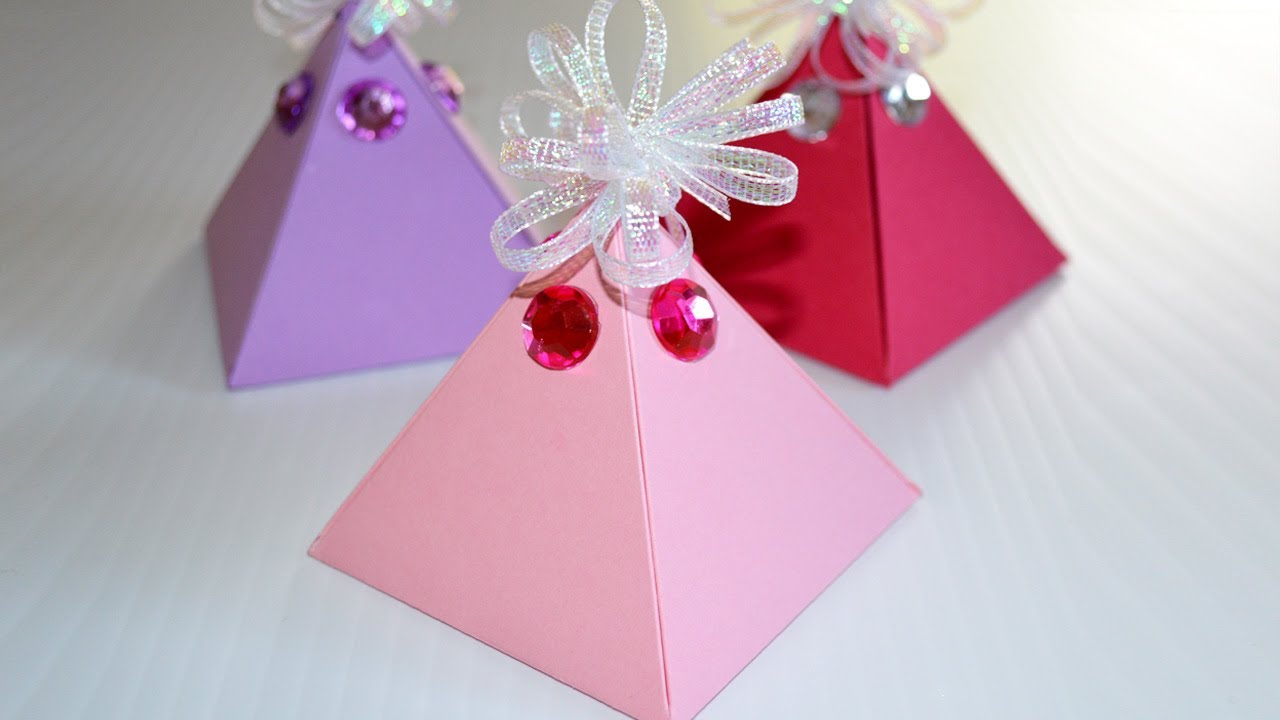 How to Make a Gift Box - DIY Pyramid Box EASY - YouTube