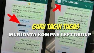 """Download VIRAL ‼️Guru Di Malaysia, Tagih Tugas Sekolah ,Muridnya Kompak """"Left Group"""" WhatsApp"""
