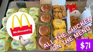 The ENTIRE McDonald's CHICKEN MENU! POSSIBLY A MILLION CALORIES! MOLLY SCHUYLER VS CHICKEN! MASSIVE