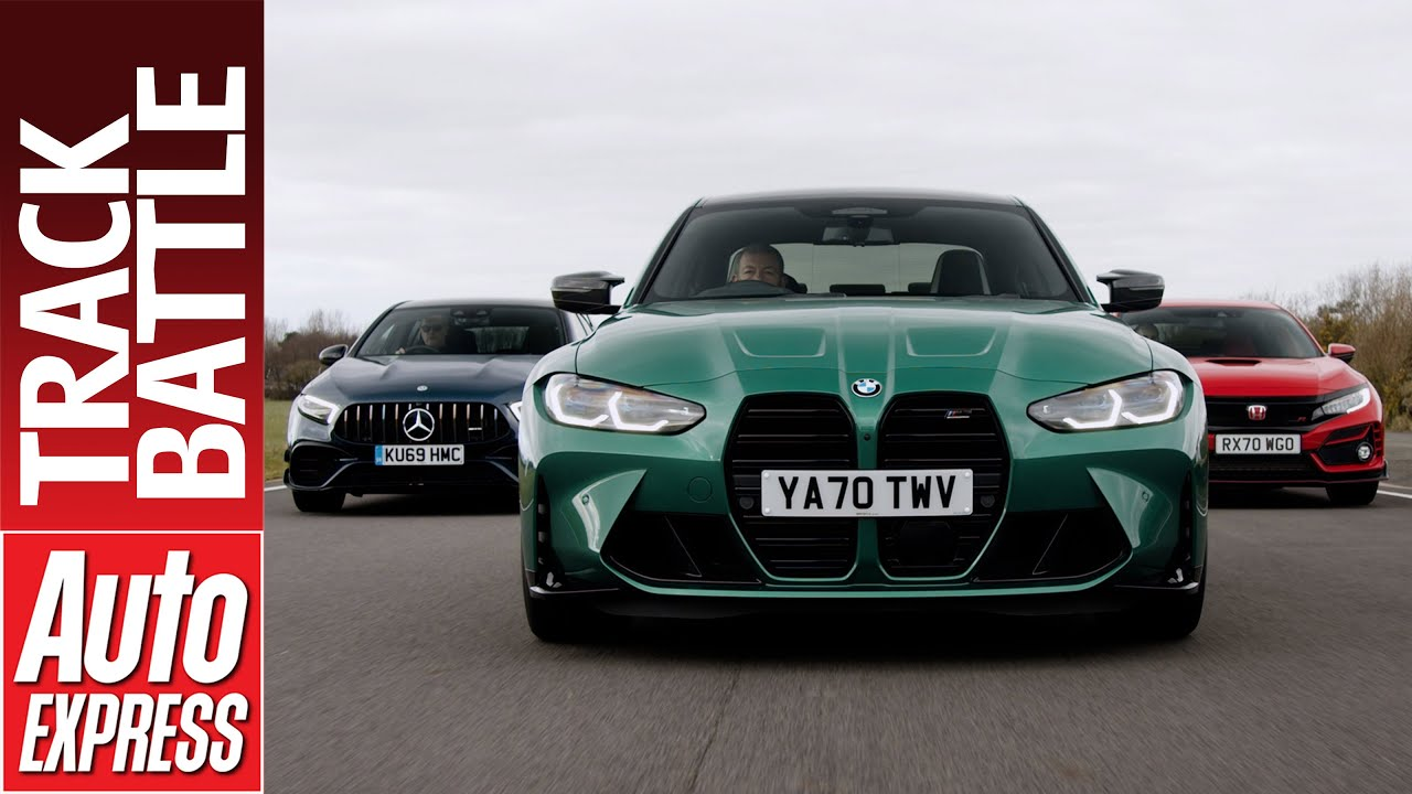 BMW M3 Competition vs Mercedes-AMG A45 vs Honda Civic Type R GT: Steve Sutcliffe Track Battle