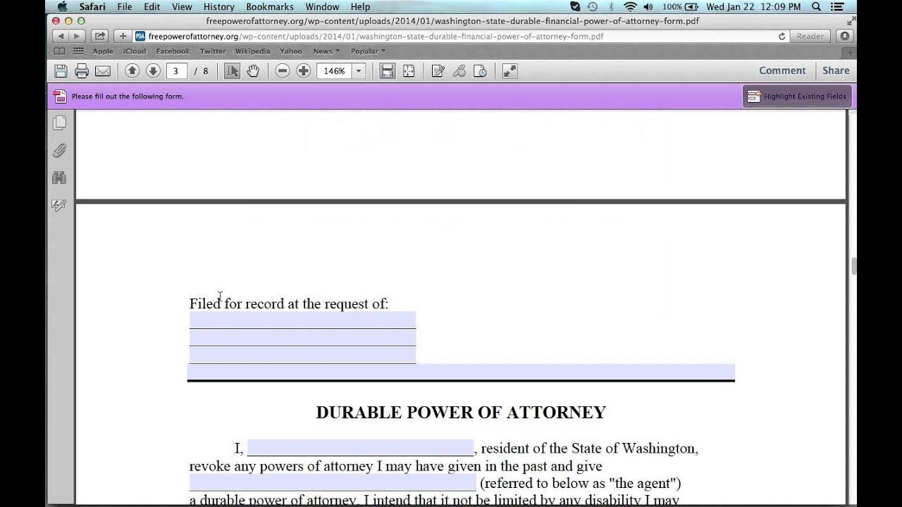 How to write a washington state power of attorney form youtube how to write a washington state power of attorney form falaconquin