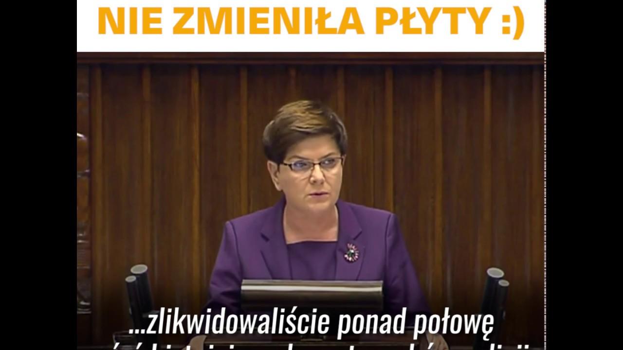 Beata Szydło znowu nie zmieniła płyty :)