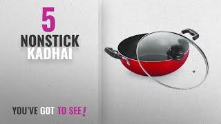 Top 10 Nonstick Kadhai [2018]: Nirlon Heavy Gauge Non-Stick Cookware Deep Kadai With Glass Lid,