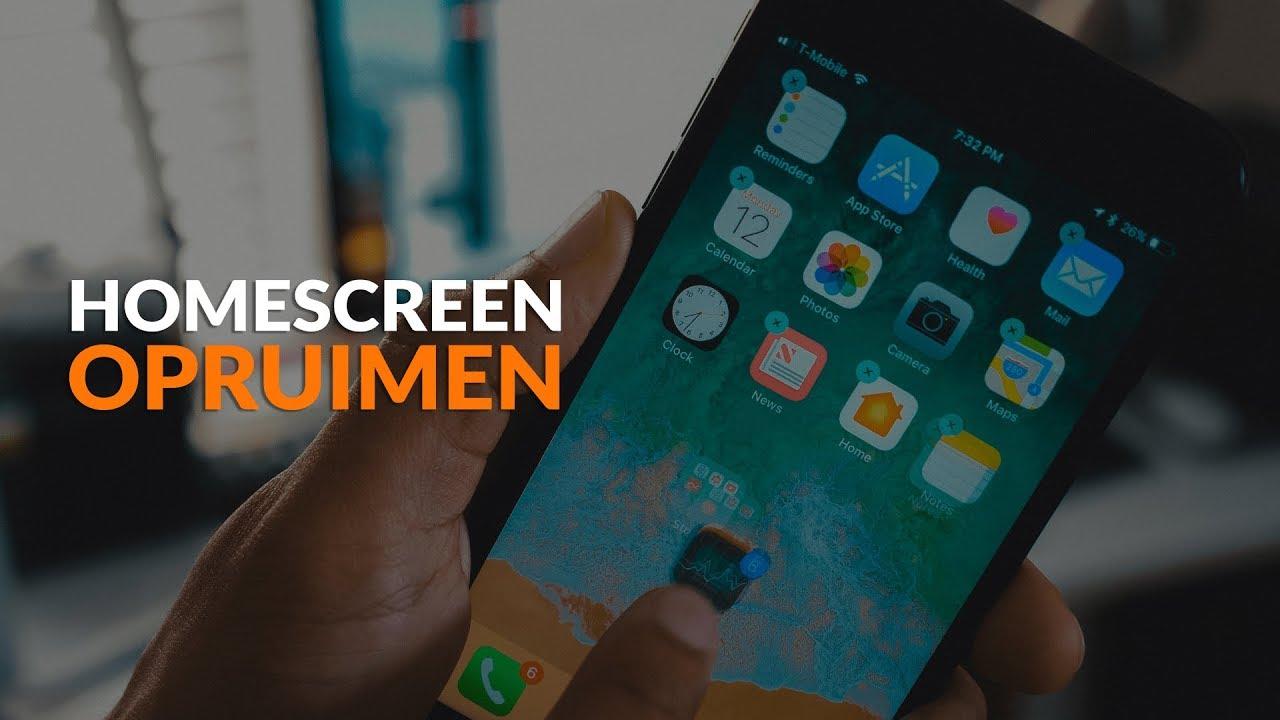 Je iPhone-homescreen opruimen: zo doe je dat!