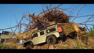 Traxxas TRX-4 Defender 110 V8 Sunset Bush Crawl *Cinematic*  - Netcruzer RC