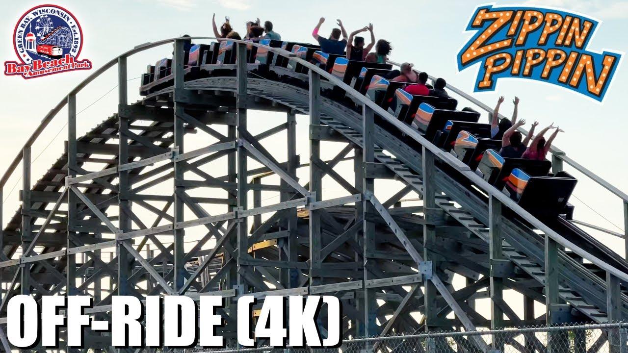 Zippin Pippin Off-Ride 2021 (4K) - Bay Beach Amusement Park - Non Copyright