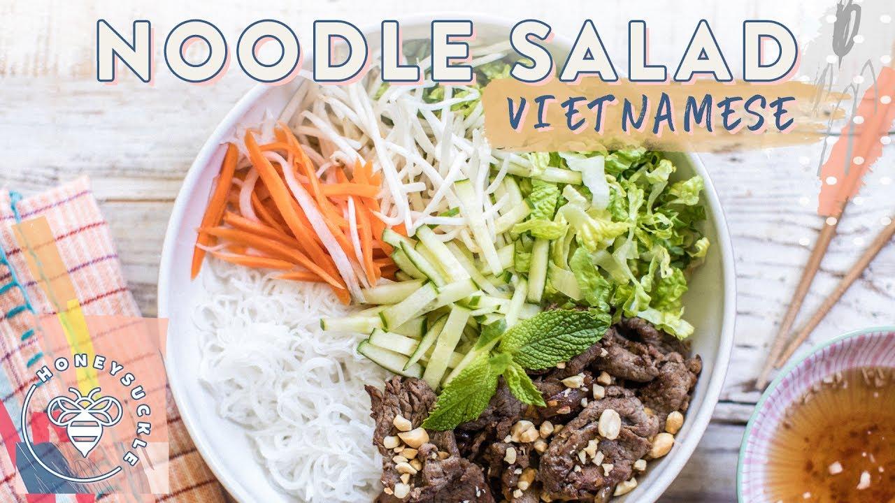 Vietnamese Beef NOODLE SALAD (Bun Bo Xao) - YouTube