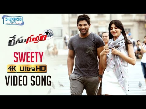 Race Gurram Video Songs 4K | Sweety Full Video Song | Allu Arjun | Shruti Haasan | Thaman S Mp3