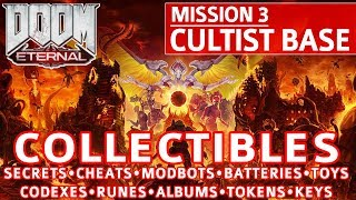 Doom Eternal - Cultist Base All Collectible Locations (Secrets, Collectibles, Cheats, Upgrades etc)