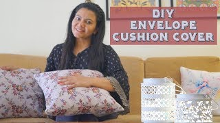 DIY Envelope Cushion Covers | How To Make Envelope Cushion Covers