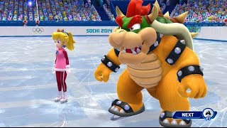 Mario and Sonic at the Sochi 2014 Olympic Winter Games: Figure Skating Pairs #5