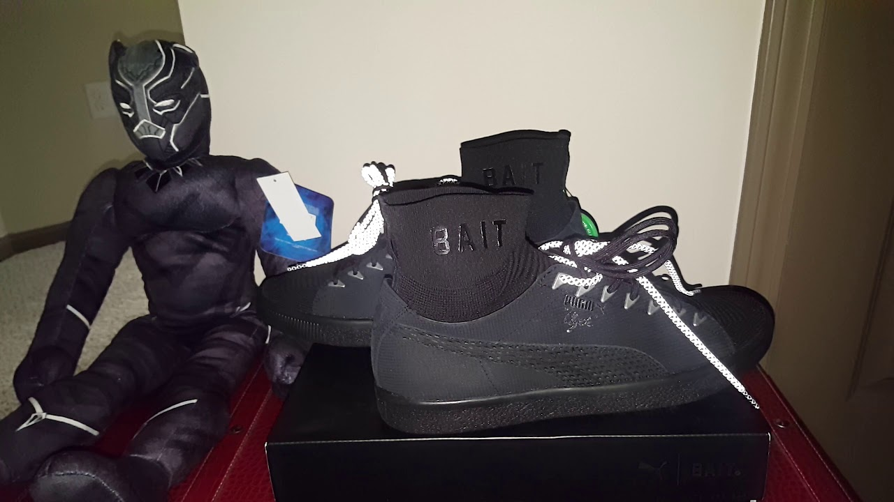 e0473448b BAIT PUMA CLYDE SOCK (BLACK PANTHER) COMIC CON EXCLUSIVE!!! ONLY 200 PAIRS  WORLDWIDE!