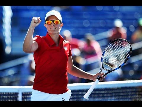 2016 Connecticut Open Second Round | Kirsten Flipkens vs Caroline Garcia | WTA Highlights