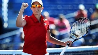 2016 Connecticut Open Second Round   Kirsten Flipkens vs Caroline Garcia   WTA Highlights