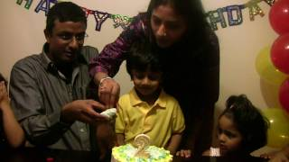 Manyu 2nd Birthday Cake cutting