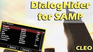 [CLEO] DialogHider для SAMP 0.3.7 | Скрываем все диалоги.