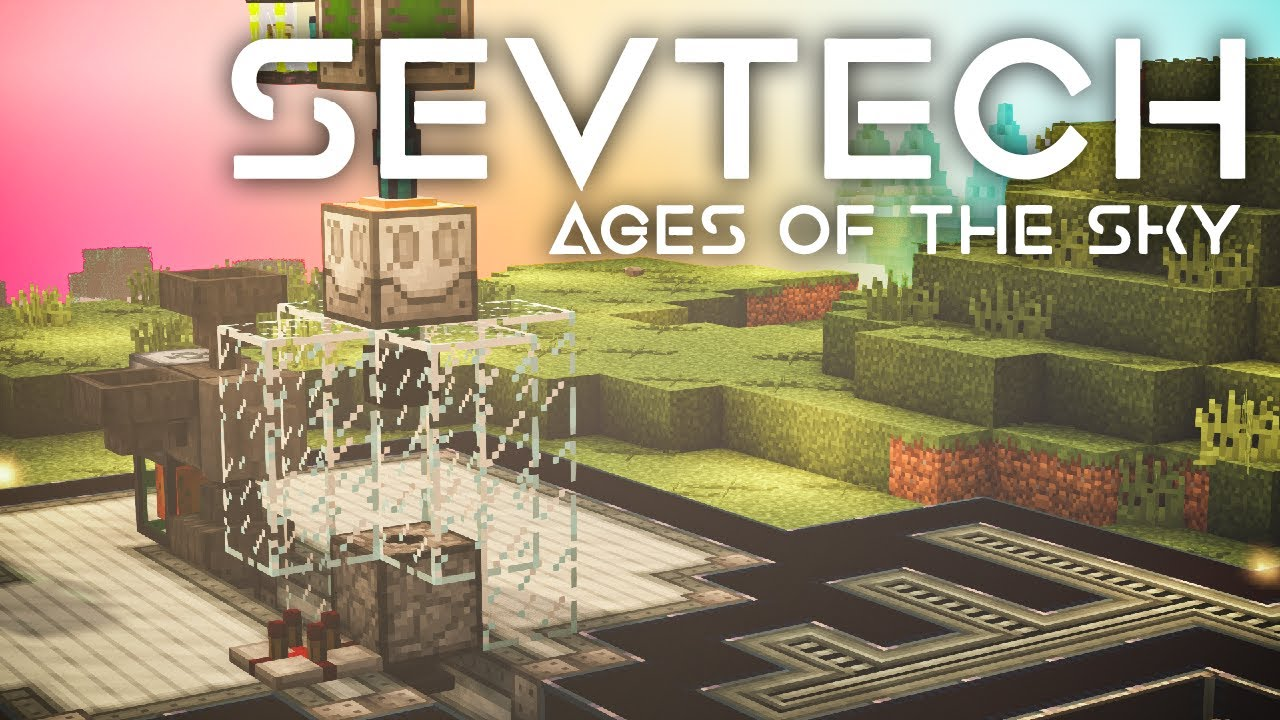 SevTech: Ages of the Sky Ep. 54 XP Farm to Power Mob Duplicator