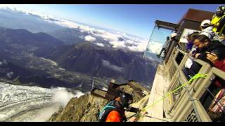 Aiguille du Midi Chamonix, France - Wingsuit Base Jumping