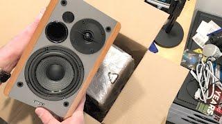 Edifier R1280T Powered Bookshelf Speakers Unboxing