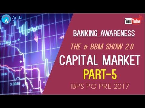 Banking Awareness | Capital Market (P-5) |#BBM | IBPS PO PRE/MAINS |   Online Coaching for SBI IBPS