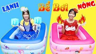 Bể Bơi Siêu Nóng & Siêu Lạnh ♥ Min Min TV Minh Khoa