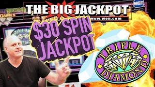 $30 SPINS! 💎 HUGE JACKPOT on 3 REEL 🎰TRIPLE DIAMOND SLOTS