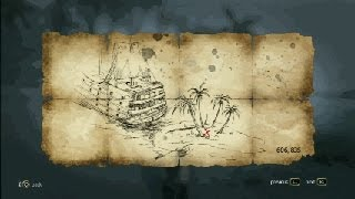 Assassin´s Creed 4 - Treasure Map - 606, 835 Abaco Island