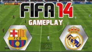 FIFA 14:FC BARCELONA VS REAL MADRID FULL GAMEPLAY[PC][HD]