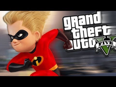 GTA 5 Mods - THE INCREDIBLES MOD w/ DASH & POWERS (GTA 5 PC Mods Gameplay)