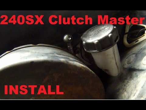 240sx Auto To Manual Clutch Master Install Youtube