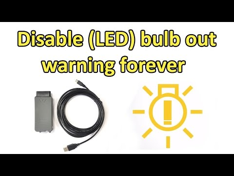 Disable bulb out error permanent on a VW/Skoda
