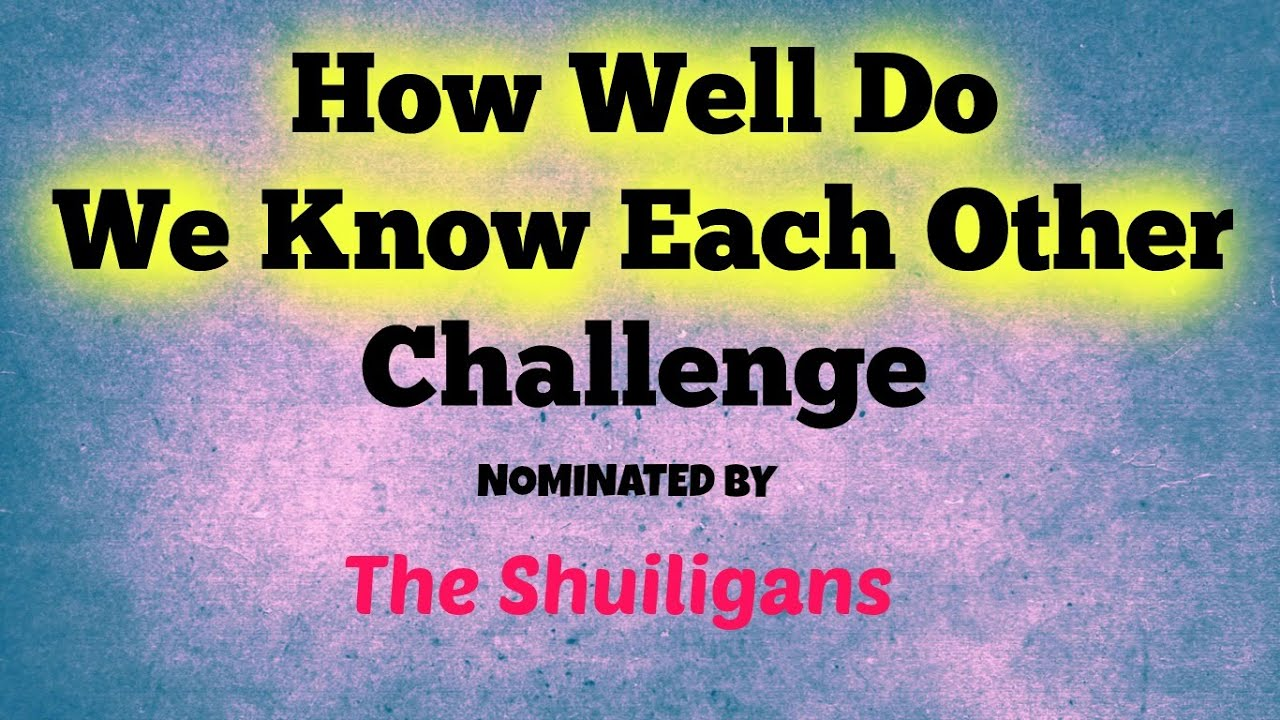 How Well Do You Know Each Other Challenge : Daily Vloggers