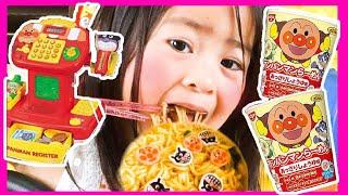 Anpanman Pororo Black Noodle アンパンマンレジでラーメンごっこ遊び
