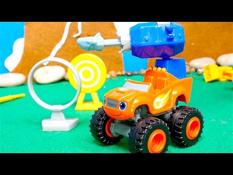 Blaze and the Monster Machines toys - Race tracks for kids - Big trucks - Force and angles for kids