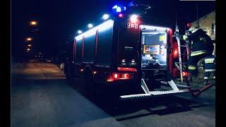 [Helmet Cam] Dojazd do syreny, alarmowo do pożaru budynku gospodarczego - OSP Glinojeck - Alarmowo